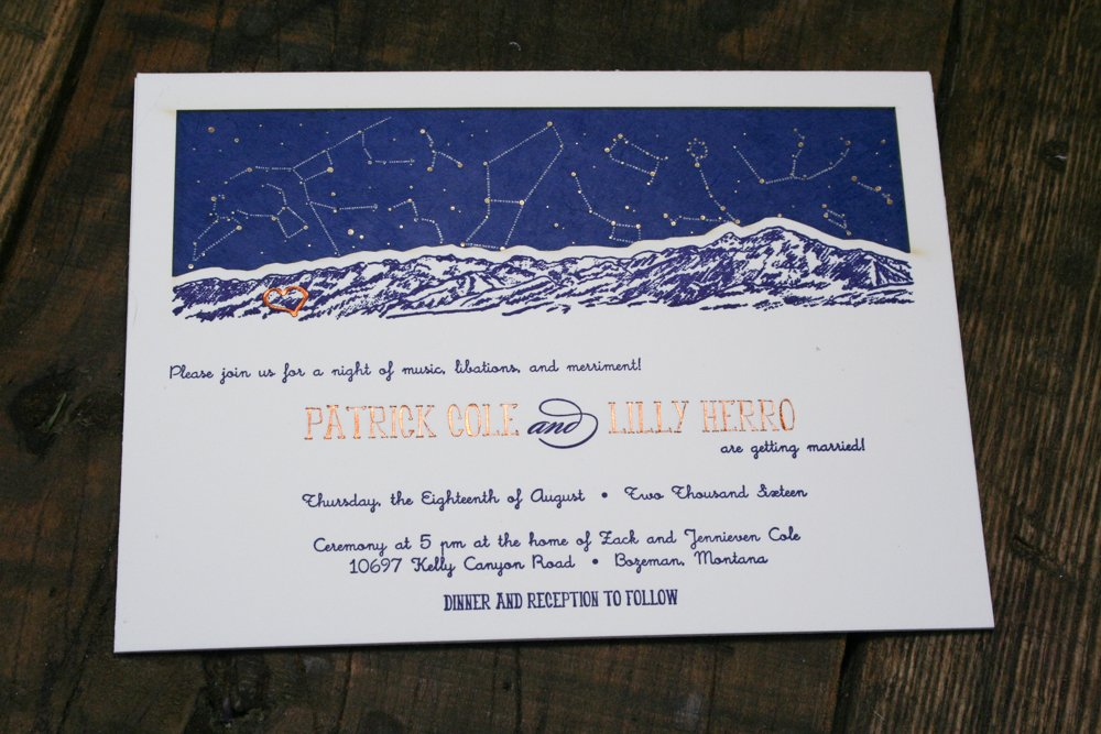 Montana Letterpress Wedding Invitations Archives - Twin Ravens Press